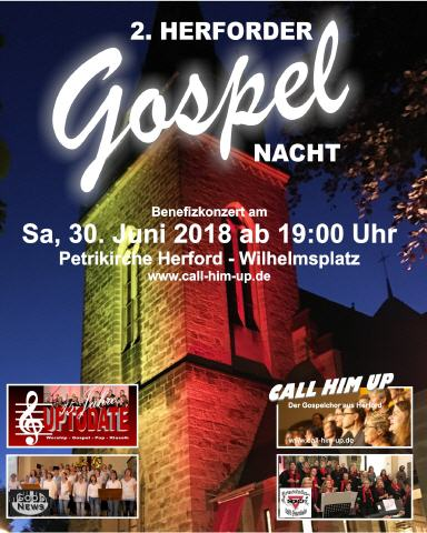 Call-Him-Up Herforder Gospelnacht Plakat